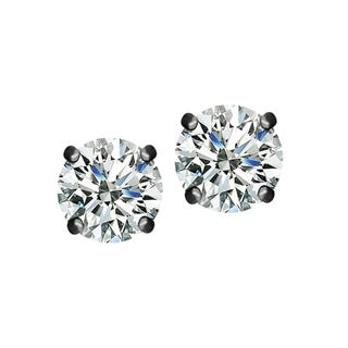 Swarovski Black Rhodium-plated Stainless Steel Stud Earrings