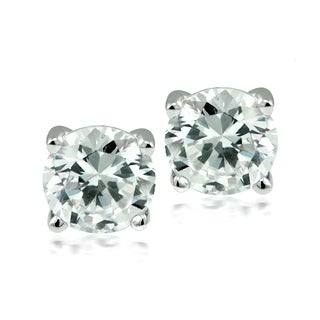 Rhodium-plated Stainless Steel Swarovski Elements Stud Earrings