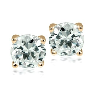 Gold-plated Stainless Steel Swarovski Elements Stud Earrings