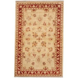 Herat Oriental Afghan Hand-knotted Vegetable Dye Oushak Wool Rug (2'7 x 4')
