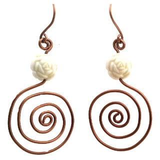 Heavenly Beads Spiral Earrings