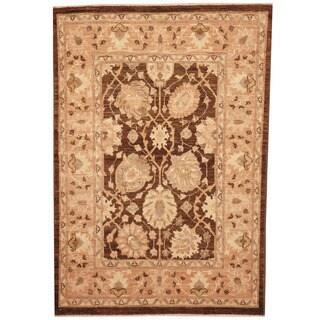 Herat Oriental Afghan Hand-knotted Vegetable Dye Oushak Wool Rug (2'10 x 4')