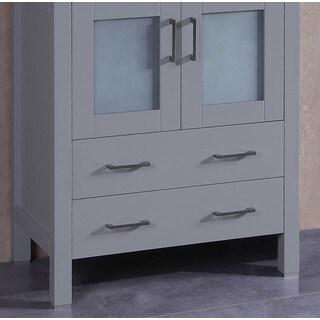 "30"" A-GR-30MC Gray Single Vanity Cabinet"