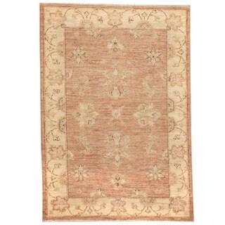 Herat Oriental Afghan Hand-knotted Vegetable Dye Oushak Wool Rug (2'8 x 3'9)