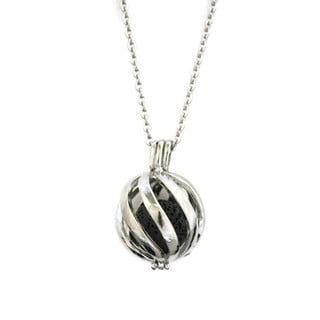"""Statement 316L Stainless Steel Lava Stone Diffuser Necklace- 24"""""""