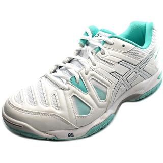 Asics Women's 'Gel-Game 5' White/Teal Faux-leather Athletic Shoes
