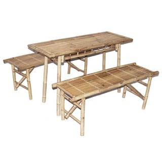 3 Piece Picnic Folding Benches and Small Table Set (Vietnam)