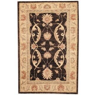 Herat Oriental Afghan Hand-knotted Vegetable Dye Oushak Wool Rug (2'7 x 3'10)