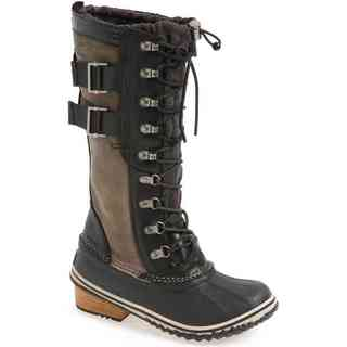 Sorel Women's Conquest Carly II Leather and Rubber Mid-calf Boots
