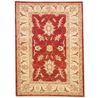 Herat Oriental Afghan Hand-knotted Vegetable Dye Oushak Wool Rug (2'9 x 3'9)