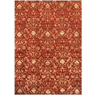 Herat Oriental Indo Hand-tufted Tibetan Wool & Silk Rug (10' x 14')