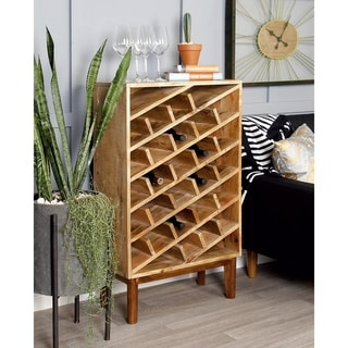 Brown Wood 30-bottle Wine Rack