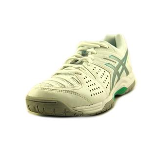Asics Women's Gel-Dedicate 4 White Faux-leather Athletic Shoes
