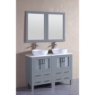 "48"" Bosconi AGR224BWLPS Double Vanity"