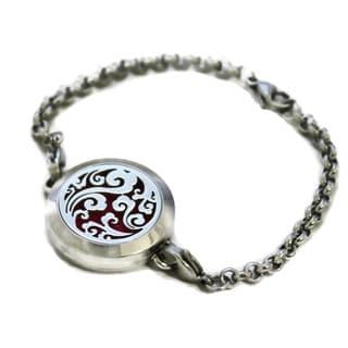 """Swirl"" Filigree 316L Stainless Steel Essential Oil Diffuser Bracelet"