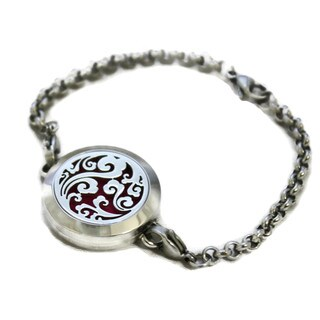 """Swirl"" Filigree 316L Stainless Steel Essential Oil Diffuser Bracelet"