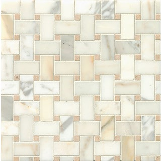 Basket Weave Ashbury Mosaic Stone Tile Sheets (Pack of 10)