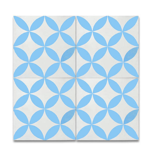 Shop Amlo Blue And White Handmade Moroccan X Inch Cement And - Blue and white tiles for sale