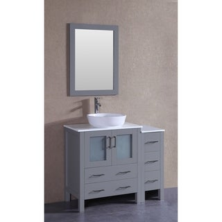 "42"" Bosconi AGR130BWLPS1S Single Vanity"