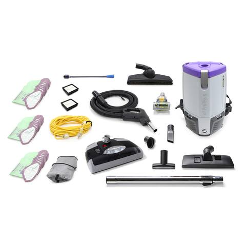 ProTeam Super Coach Pro 6 QT Commercial Backpack Vacuum Cleaner With Power head