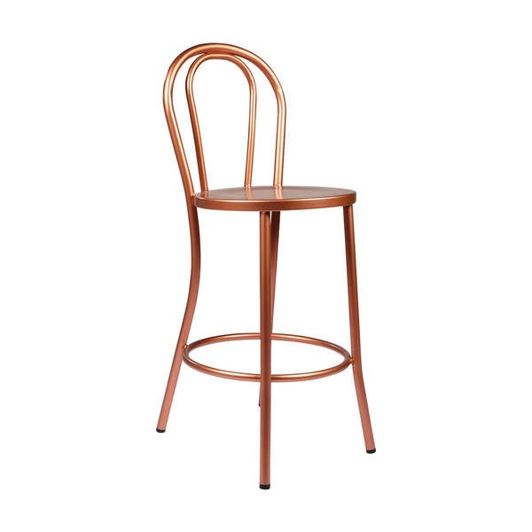Shop Copper French Bar Stool With Curved Back Free Shipping Today