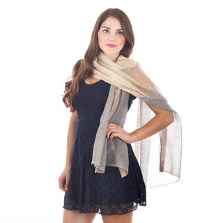 Sheer Silk and Wool Scarf
