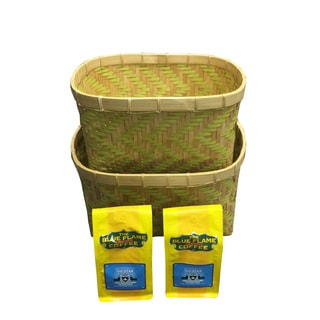 Woven Nesting Bamboo Baskets (Set of 2 pcs) FREE 2 packs of med-roast coffee