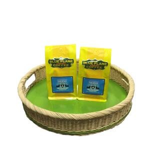Round Rattan Tray FREE 2 packs of med-roast coffee|https://ak1.ostkcdn.com/images/products/13003572/P19747895.jpg?impolicy=medium