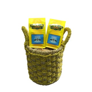Seagrass Double Woven Basket FREE 2 packs of med-roast coffee