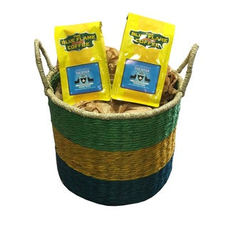 Seagrass BYG Woven Basket FREE 2 packs of med-roast coffee