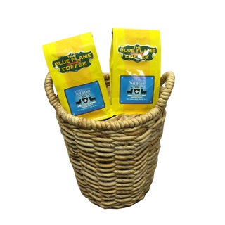 Seagrass Woven Basket FREE 2 packs of med-roast coffee