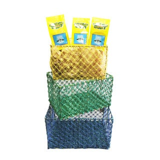 Wire Frame Jute Baskets (Set of 3 pcs: L, M,S) FREE 2 packs of med-roast coffee