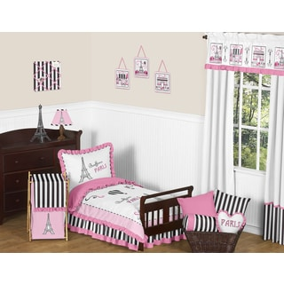 Sweet Jojo Designs French Paris Eifell Tower 5 Piece Bed in a Bag Set