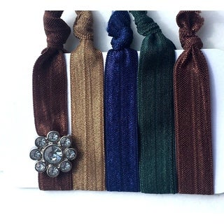 Be the Envy Boutique 5 Piece Gem Ponytail HairTies