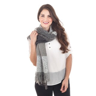 Color Block Plaid Scarf (3 options available)
