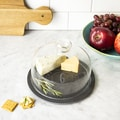Personalized Black Slate Tray With Glass Dome