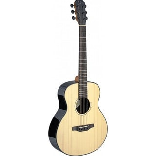 James Neligan Lyn-A Mini Lyne Series Natural Rosewood, Mahogany, ABS, and Nickel Travel Acoustic Guitar