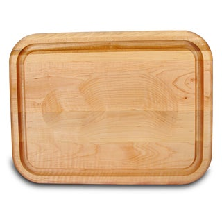 Versatile Wood Meat Holding and Carving Board with Trench