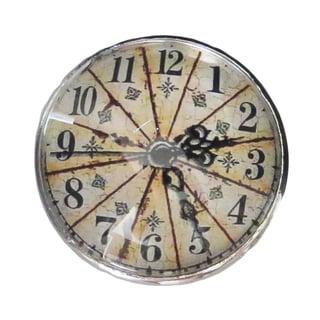 Glass Metal Clock Decorative Drawer Pull/Doors Knob (Set of 6)