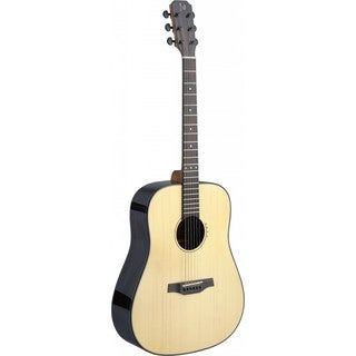 James Neligan Lyn-A Mini Lyne Series Dreadnought Natural Rosewood, Mahogany, Black and White ABS, and Nickel Acoustic Guitar