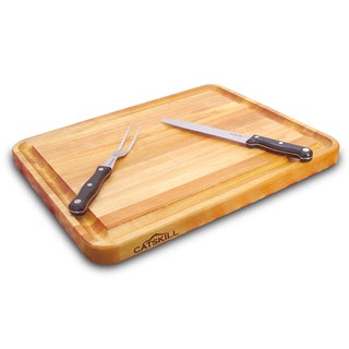 Pro Series Brown Wood 20-inch Cutting Board with Groove