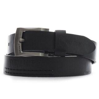 Dinamit Men's Black Leather One-size-fits-most Belt
