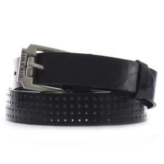 Dinamit Men's Black/Silver Leather Belt|https://ak1.ostkcdn.com/images/products/13003719/P19748022.jpg?impolicy=medium