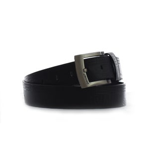 Dinamit Men's Black Leather Belt