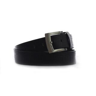 Dinamit Men's Black Leather Belt