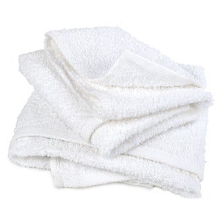 Pro-Clean Basics White Cotton Multipurpose Cleaning Terry Towels (Case of 24)