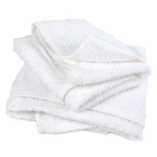 Pro-Clean Basics White Cotton Multipurpose Terry Cloth Cleaning Rags (Case of 48)