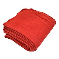Pro-Clean Basics Red Cotton Shop Towel Cleaning Rags (Case of 300)