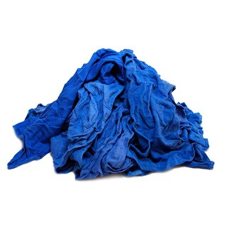 Pro-Clean Basics 3 lbs. Assorted Colors Cotton Reclaimed Huck Towels Bag Cleaning Rags