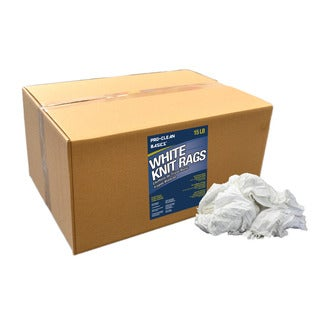 Pro-Clean Basics 15 lbs. White Cotton T-shirt Knits Cleaning Rags
